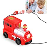 Magic Inductive Truck Toy Train HUIBUDCH Magic Mini Train Children's Christmas Toy Gift [Follows Black Line] for Kids (Red Train)