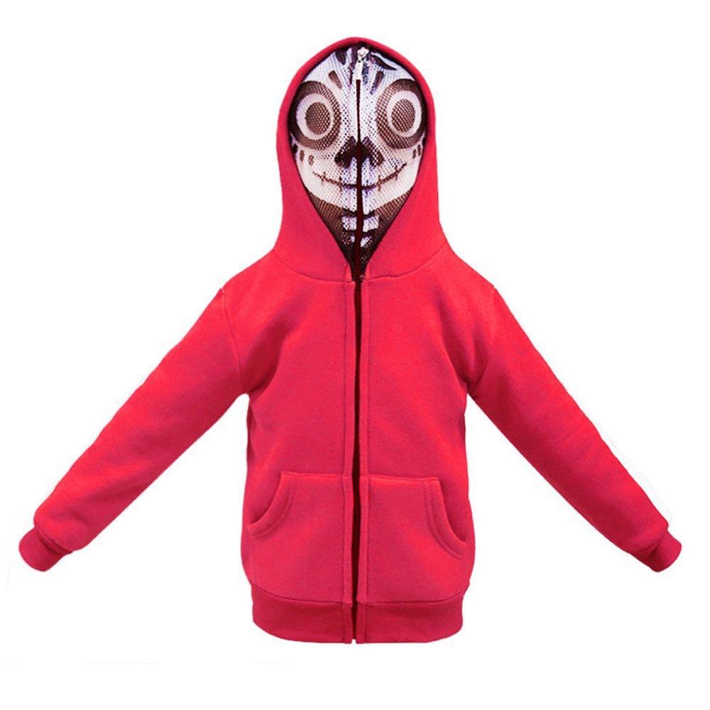 KINOMOTO Animation Miguel Costume Cosplay Jacket Coat Kids Sweatshirt Zipper Hoodie with Mesh Mask