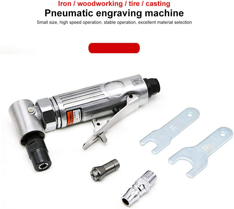 Silver 1//4 Cut Off Cutting Air Pneumatic Angle Die Grinder Polisher Grinding Cleaning Tool