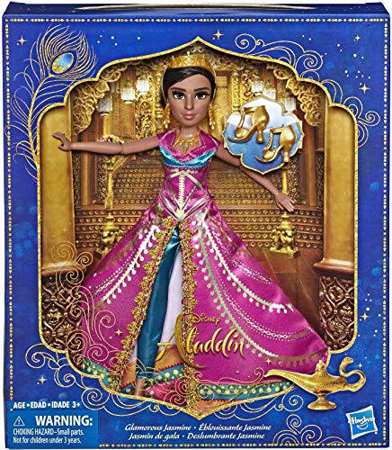 Disney Aladdin Glamorous Jasmine Deluxe Fashion Doll with Gown, Shoes, & Accessories, Inspired by Disneys Live-Action Movie, Toy for Kids & Collectors