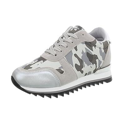 b6ee55732273 Ital-Design Chaussures Femme Baskets Mode Plat Sneakers Espadrilles Low   Amazon.fr  Chaussures et Sacs