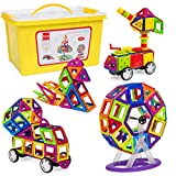 Best Choice Products 254-Piece Kids Magnetic Building Block Tiles Educational STEM Toy Set w/ Storage Box - Multicolor