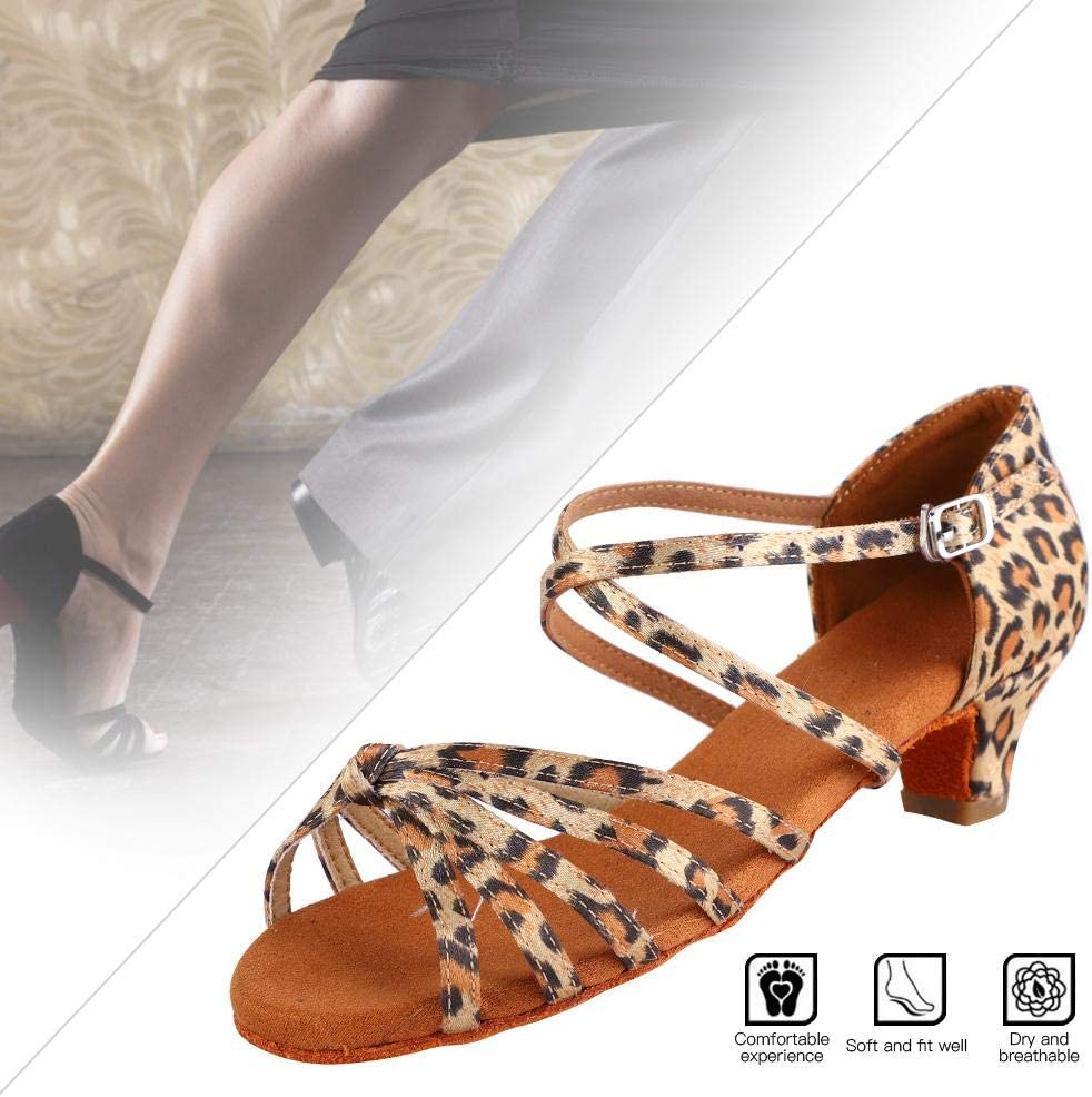 Tbest Latin Dance Shoes Girl Tan Dance Shoes by Chacha Pu de Suave Salsa Dance Shoes Dance Practice Party Ballroom Wear for Boys and Girls