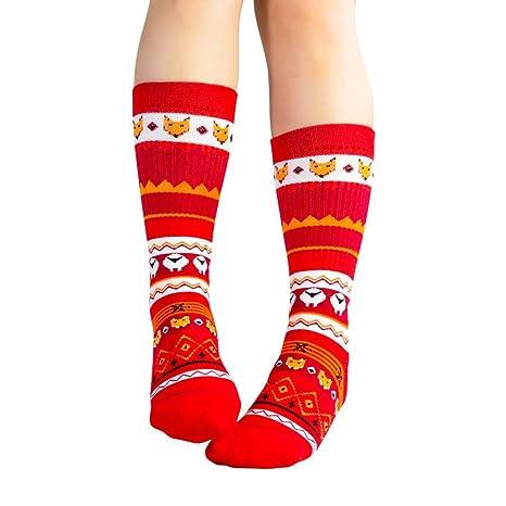 Wakerda Calcetines de algodón de Invierno de Invierno de Media Pantorrilla para Mujeres Hombres Regalo de