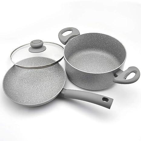 2 Piezas De Piedra Maifan No Stick Utensilios De Cocina-Inducción Estufa Compatible Lavavajillas Seguro
