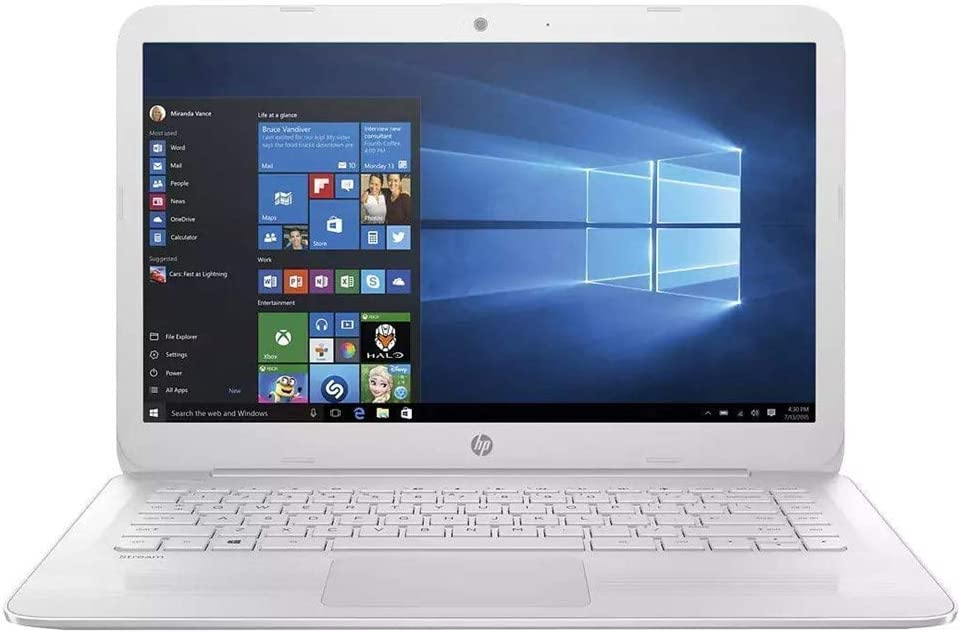 "2019 HP Stream 14 14"" FHD IPS Laptop Computer, Intel Celeron N3060 up to 2.48GHz, 4GB RAM, 64GB eMMC + 128GB SD, Bluetooth 4.2, 802.11AC WiFi, USB 3.1, HDMI, Windows 10"