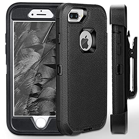 iPhone 7 Plus Case,iPhone 6s Plus Case FOGEEK [Dust-Proof] Belt-Clip Heavy Duty Kickstand Cover [Shockproof] Rugged Armor PC+TPU Shell for Apple iPhone 7 Plus, iPhone 6/6s Plus 5.5 inch (Iphone 6 Case Armor Rugged Black)
