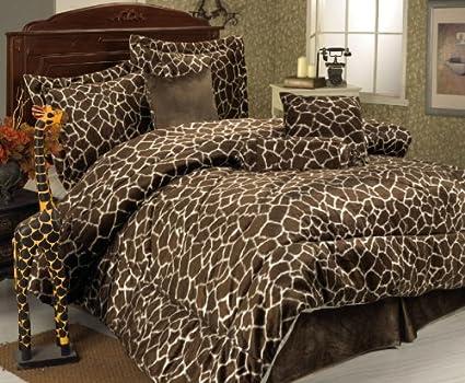 Amazon.com: 7 Piece Full Giraffe Animal Kingdom Bedding Comforter