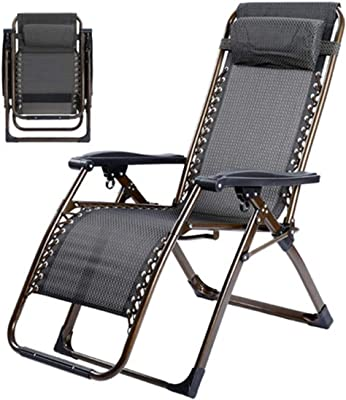 ZLJTYN 2 Pack, Size:72x68x112H,Extra Thick Square Tube Chaise Longue Folding Chair Lunch Break Chair Folding Deck Siesta Leisure Chair