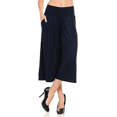 Anza Womens Gaucho Lounge Capri Pants