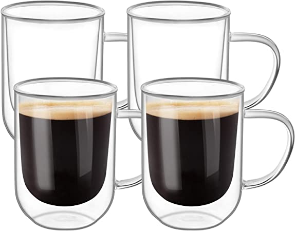 Uni TeaCoffee Cup with handle 11 oz., 4 pc pack (brown
