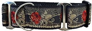 product image for Diva-Dog Martingale Dog Collar - Dakota Rose (Large)