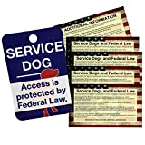 """Get the best value for your money with our service dog tag bundle. In this bundle, you will receive 1 of our Jumbo Service Dog Access tags and 5 FREE Service Dog ADA informational handout cards. The tag is large, measuring 2"""" X 3"""" so it's very easy t..."""