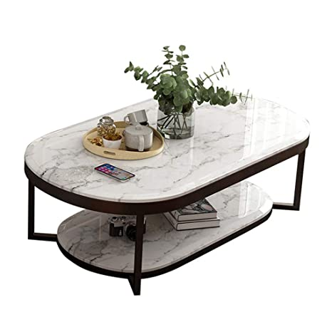 Amazon Com Double Marble Coffee Table Living Room Sofa Side