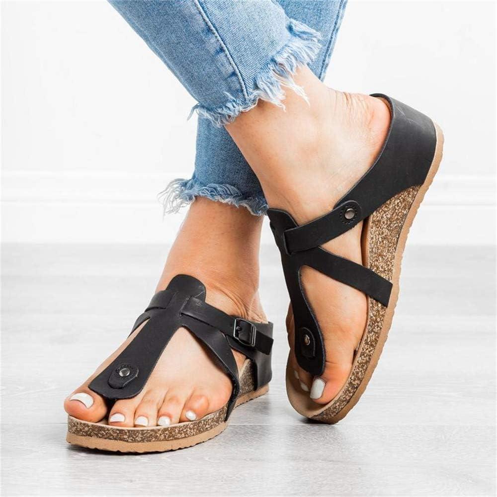 Sandalias Mujer Verano Chanclas Mujer Flip/Flop Planas Z/ápatillas Cu/ña Elegante Zapatos Punta Abierta C/ómodos Negro Marr/ón Tama/ño 35-43 EU