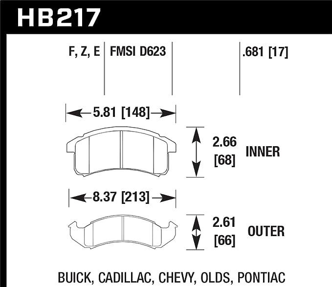 Front Set Hawk HB366Z.681 PC Performance Ceramic Brake Pads