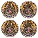 MSD Round Coasters Non-Slip Natural Rubber Desk Coasters design: 216374 Catholic decoration