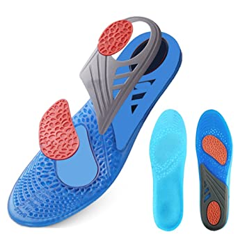 3313b9d9d74 GEL Insoles Sport Running Inserts Shock Absorption Foot For Foot  Pain Plantar Fasciitis - Support