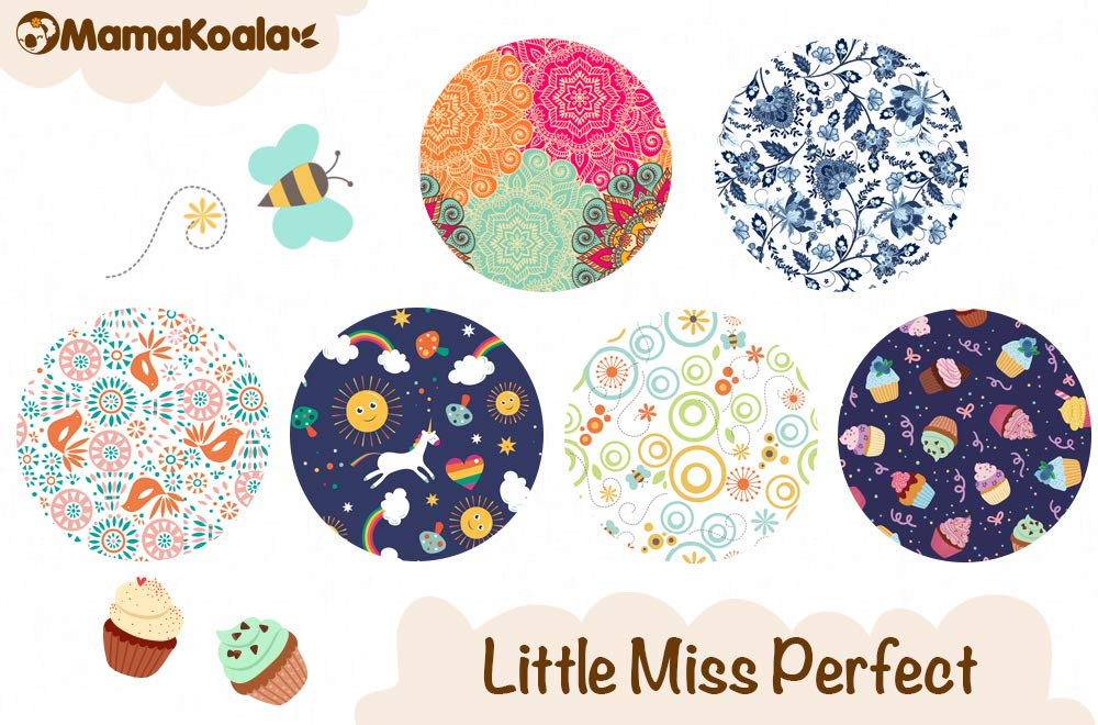 Fruits Break 6 Pack with 6 One Size Microfiber Inserts Mama Koala One Size Baby Washable Reusable Pocket Cloth Diapers