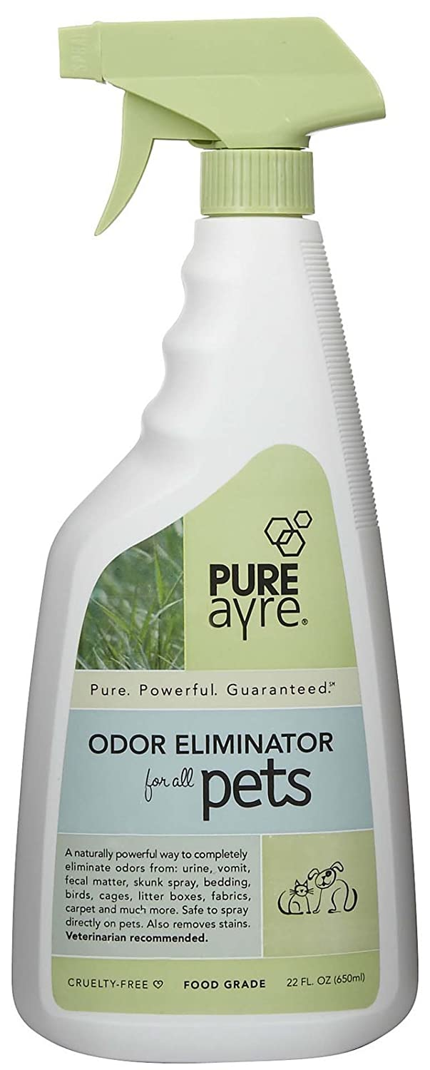 PureAyre – All-Natural Plant-Based Pet Odor Eliminator – Pure, Powerful, and Completely Safe – 22 Ounces