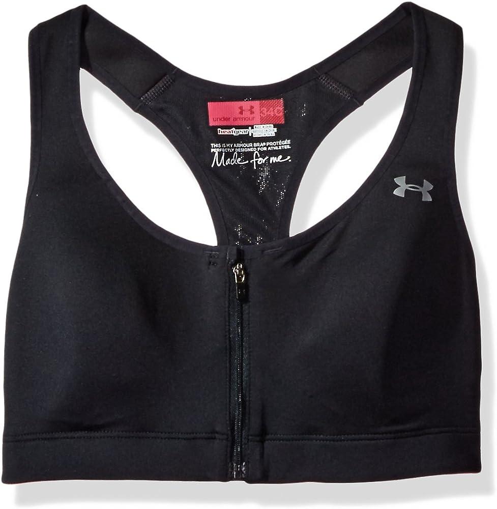 Corrección Farmacología dormitar  Amazon.com: Under Armour Women's Armour Bra Protegée C Cup, Black  (001)/Silver, 30C: Clothing