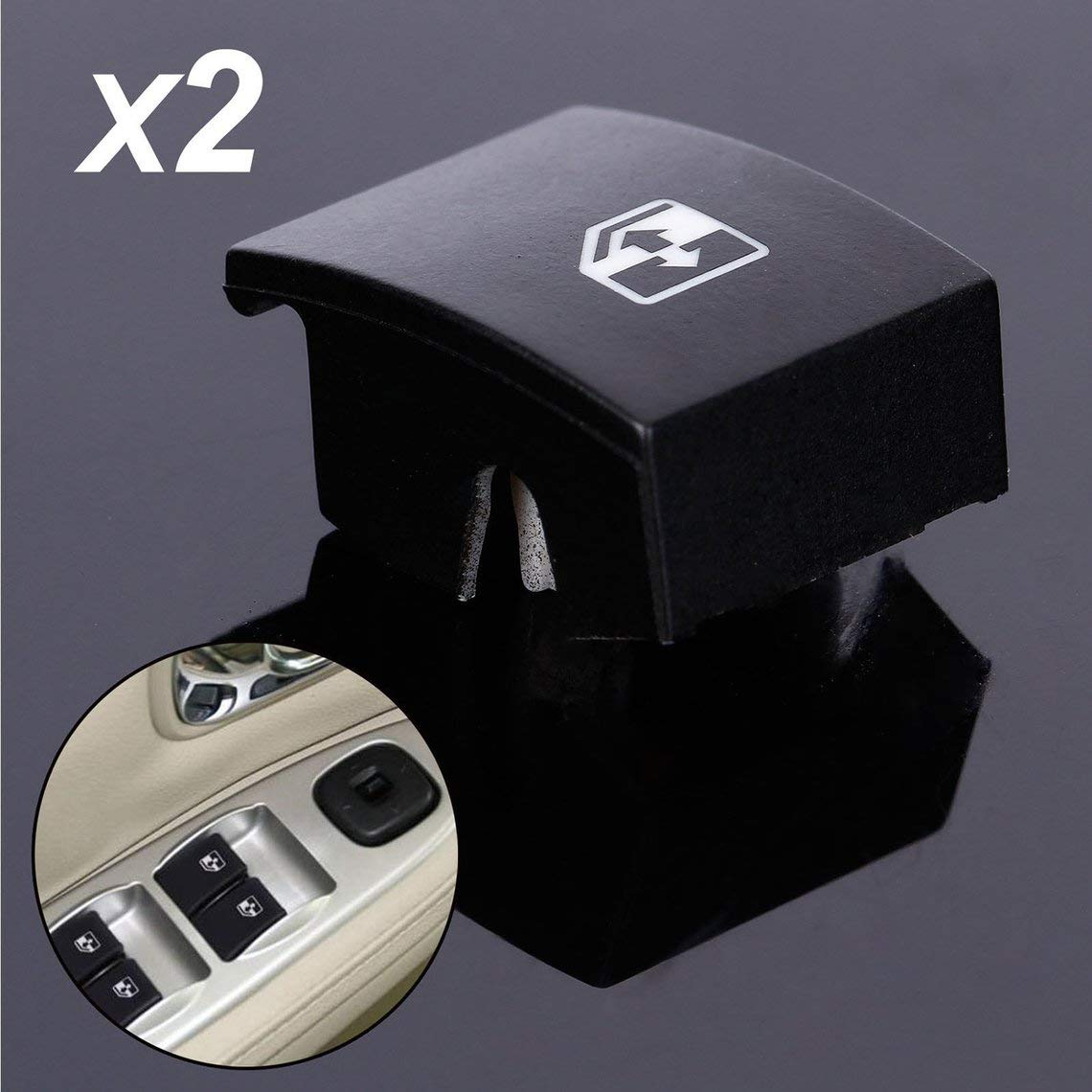 Momorain F/ür Vauxhall Opel Astra Mk5 Zafira Tigra B Fensterheber-Schalter Taste Abdeckung