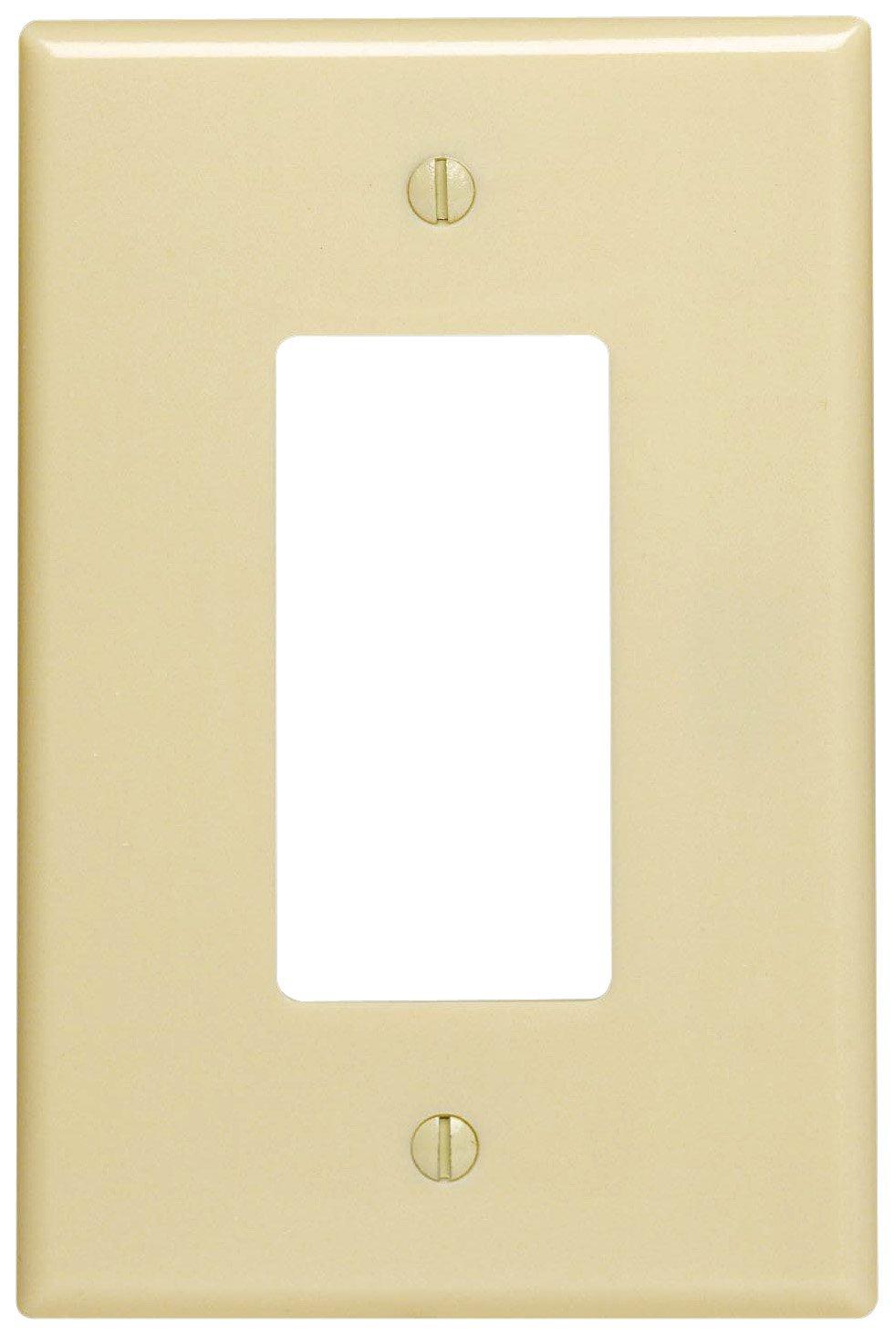 Leviton 86601 1-Gang Decora/GFCI Device Wallplate, Oversized ...