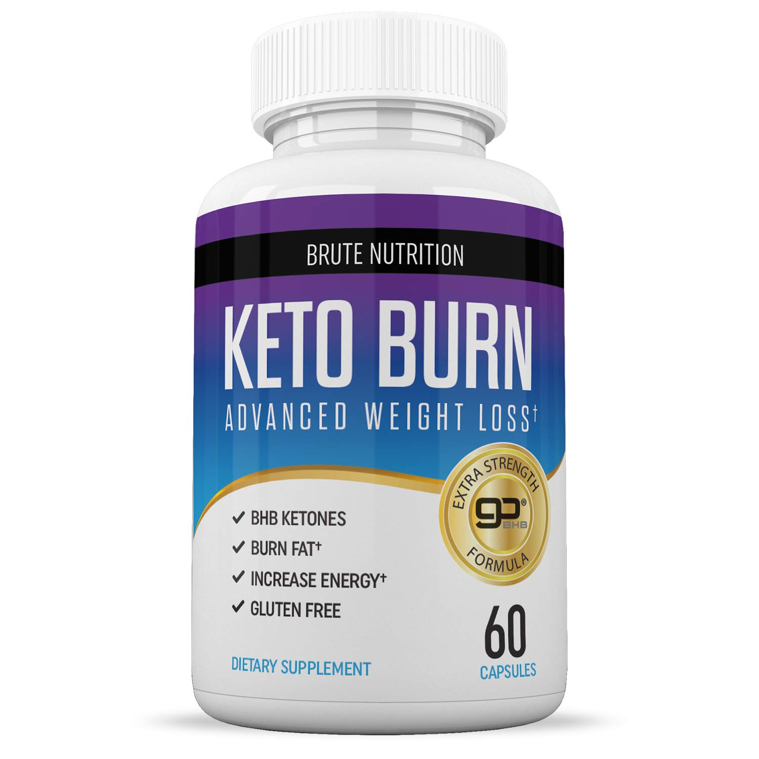 Brute Nutrition Keto Weight Loss Supplement Boosts Energy And Metabolism 60 Capsules