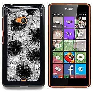 For Nokia Lumia 540 Case , Arte de la flor florece Diseño - Diseño Patrón Teléfono Caso Cubierta Case Bumper Duro Protección Case Cover Funda