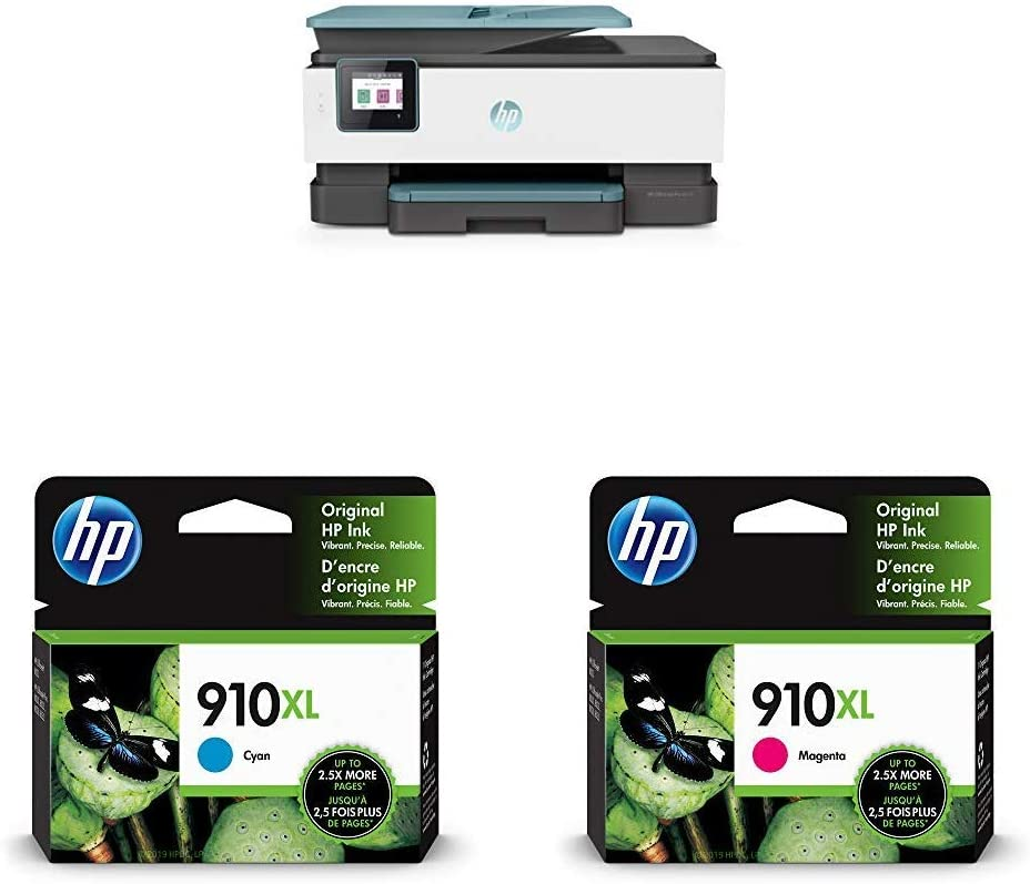 HP OfficeJet Pro 8035 All-in-One Wireless Printer - Oasis (3UC66A) with XL Ink Cartridges - 4 Colors