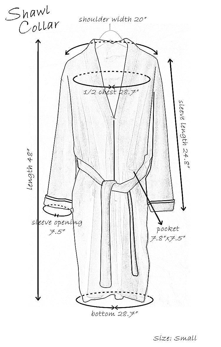 NY Threads Luxurious Mens Shawl Collar Fleece Bathrobe Spa Robe