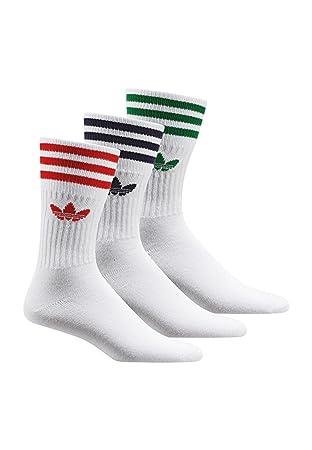 Adidas Solid Crew Sock - Camiseta para Hombre, Color Blanco, Talla 35-38: Amazon.es: Deportes y aire libre