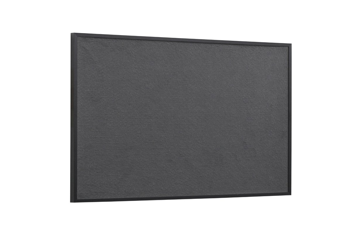 New Basic Bi-Office Office Felt Notice Board with Black Trim 885 x 585 mm
