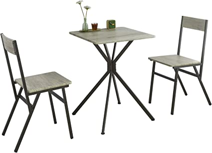 Sobuy Set 3 Pezzi Tavolo Con 2 Sgabelli Mobile Da Cucina Sedie Per Sala Da Pranzo Stile Vintage Altezza 76 Cm Ogt37 N Amazon It Casa E Cucina