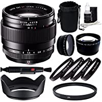 Fujifilm XF 23mm f/1.4 R Lens + 62mm +1 +2 +4 +10 Close-Up Macro Filter Set with Pouch + 62mm Multicoated UV Filter + 62mm Wide Angle Lens + 62mm 2x Telephoto Lens with pouch Bundle 6