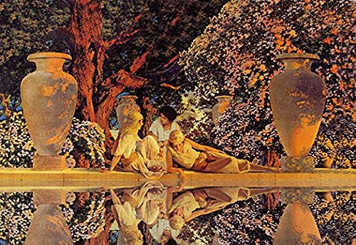 Garden of Allah - 12x18 Art Poster by Maxfield Parrish