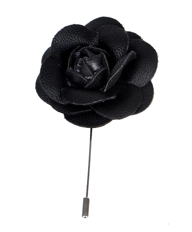 Amazon faux leather lapel flower pin black clothing dhlflorist Choice Image