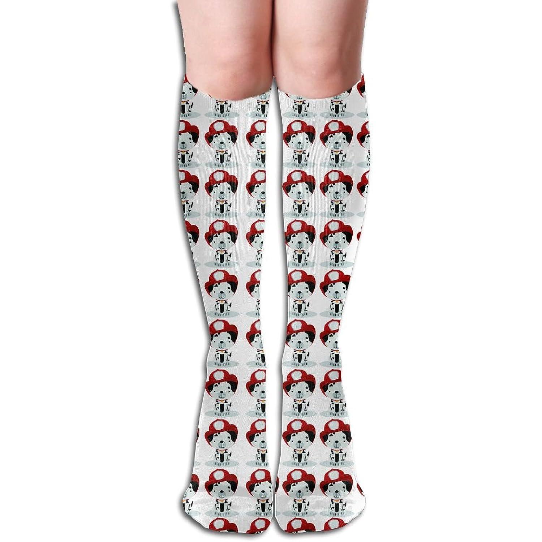 Firefighter Equipment Dalmatian Dog Womens Winter Compression Performance Knee High Socks For Women