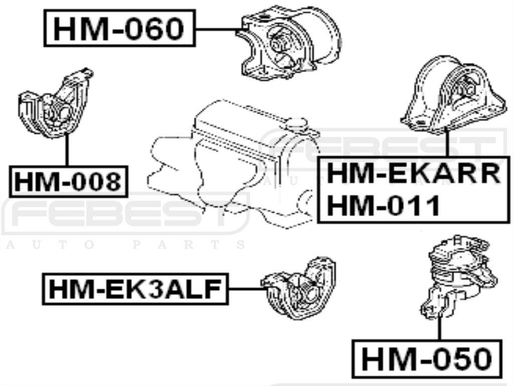 HM-EKARR Genuine Febest Rear Engine Mount At 50810-SR3-983