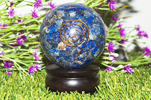 Indoor Fountain Accessories FASHIONZAADI Turquoise Orgone Pyramid with Crystal Point 4 Copper Spring & Flower of Life for Energy Chakra Balancing Reiki Healing Meditation EMF Protectiion Gemstone Size Home Accessories 2.5-3 inch