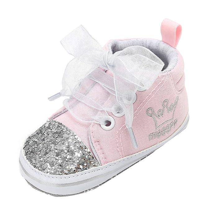 Zapatos Bebe Niña Bautizo, ❤ Zolimx Bebé Chica Niños Vendaje Zapatos Lentejuelas Moda Niño Primeros Pasos Zapatos de Recien Nacida 0-18 Meses: Amazon.es: ...