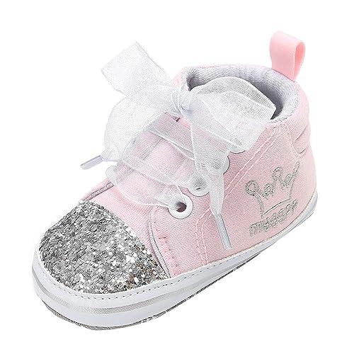 Zapatos Primeros Pasos Bebe,❤ Amlaiworld Zapatillas Deportivas para Niños Niñas bebé de Vendaje Zapatos de Lentejuelas para niños Zapatitos Bebés: ...