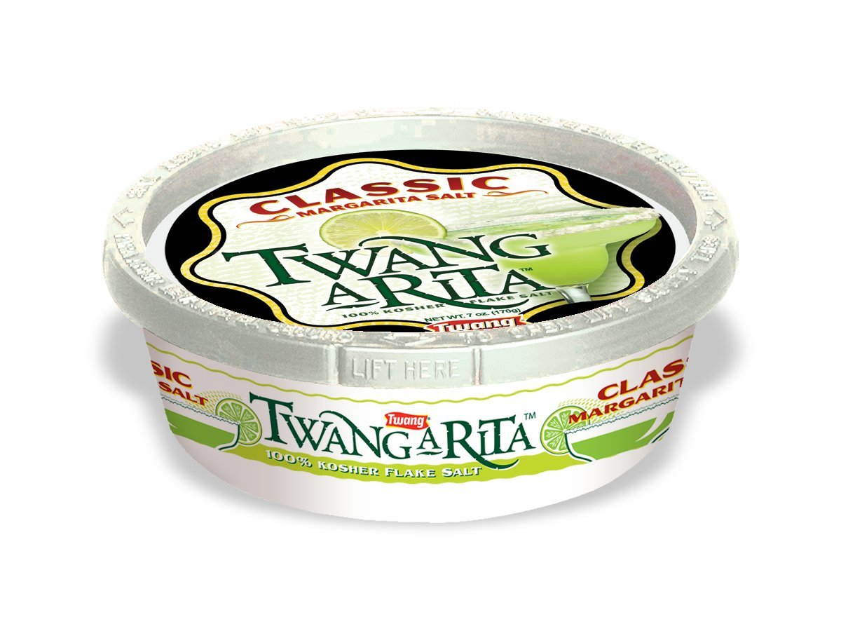 Twang-A-Rita, Classic Margarita Salt, 6-Ounce Tub (Pack of 12)