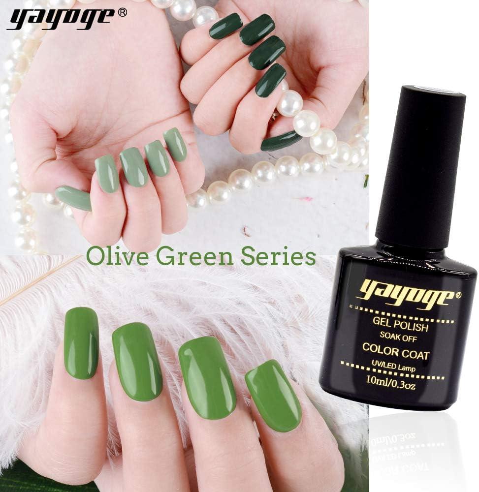 Amazon Com Yayoge Gel Nail Polish Set Olive Green Series 6