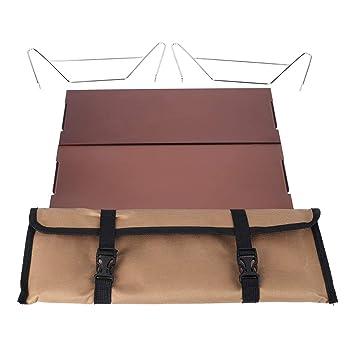 Alomejor portátil de Metal Desmontable Interior al Aire Libre Mesa ...