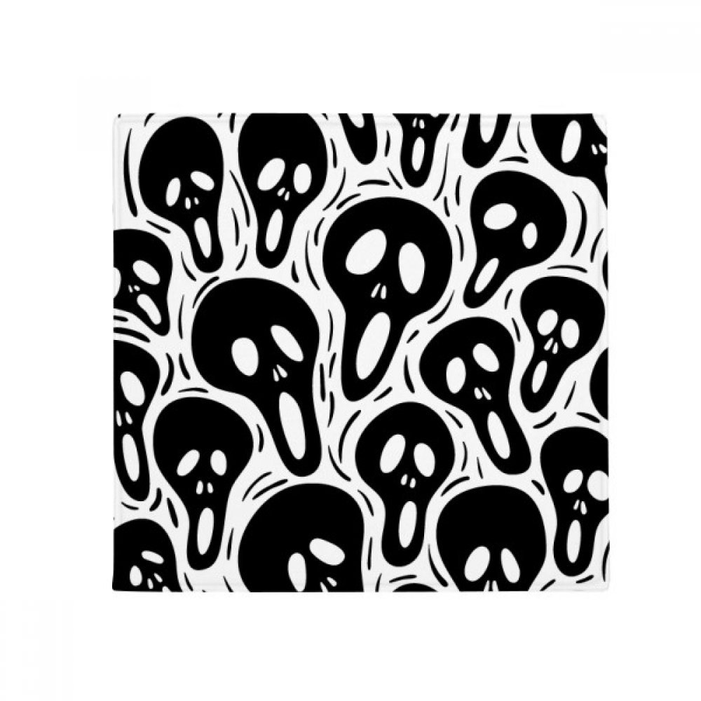 DIYthinker Cartoon Skull Halloween Anti-Slip Floor Pet Mat Square Home Kitchen Door 80Cm Gift