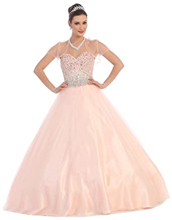 Amazon.com: Layla K LK65 Prom Queen Formal Quinceanera Ball Gown ...
