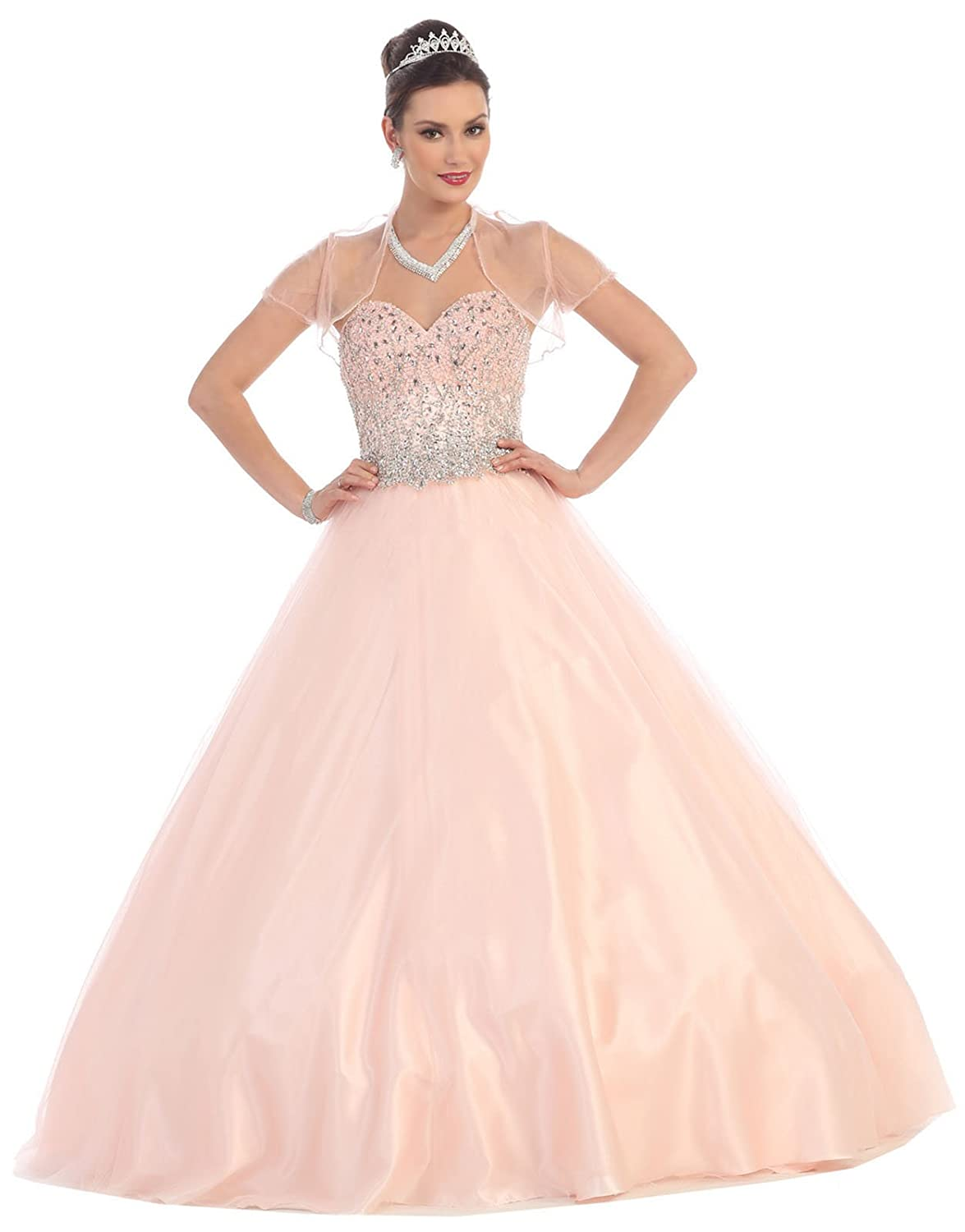 Amazon.com: Layla K LK65 Prom Queen Formal Quinceanera Ball Gown: Clothing