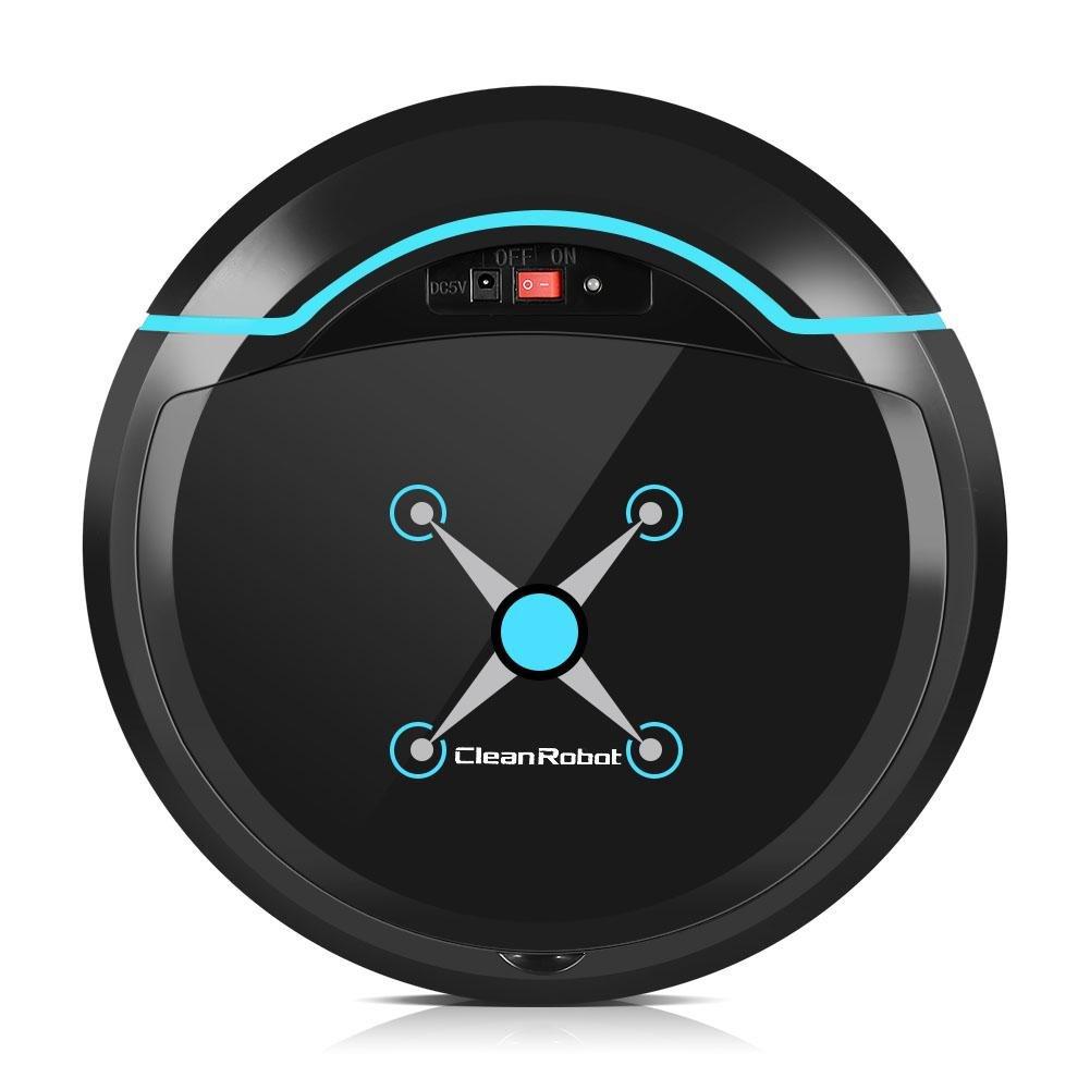 Robot Aspirapolvere Lavapavimenti Roomba Pulitore Automatico Animali Robot Domestico per la Pulizia dei Pavimenti per Lavapavimenti e Potente ed Autonomo per Polvere, Briciole, e Peli di Animali Ricar(bianco) Fdit