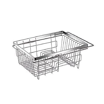 ZH Expansible Sobre el Fregadero Secador de Platos, Rack de Platos En el Fregadero o